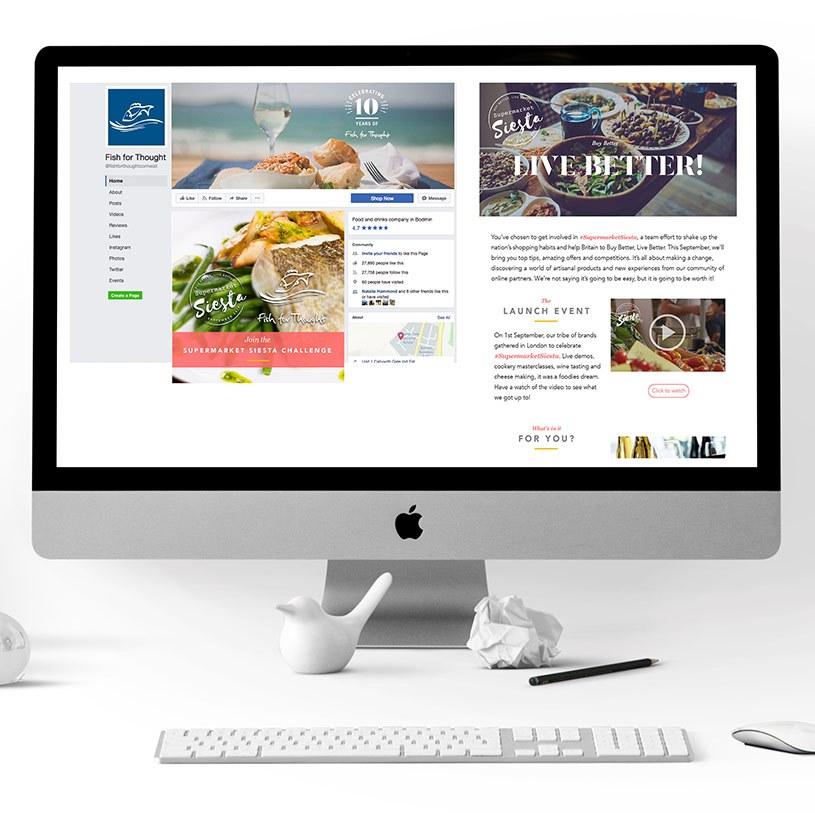 Supermarket Siesta Social Media and Newsletters