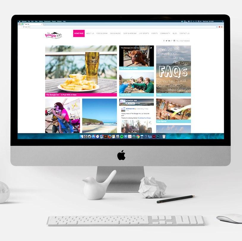 The Bowgie Inn Website Homepage Desktop1