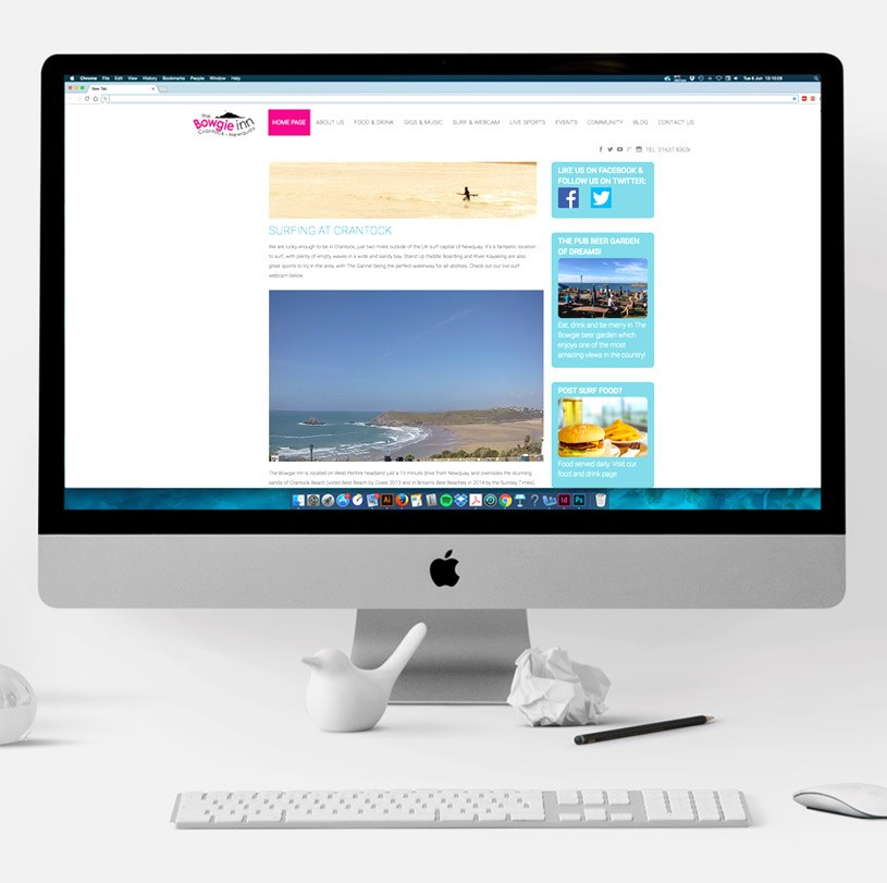 The Bowgie Inn Website Surf Webcam Desktop