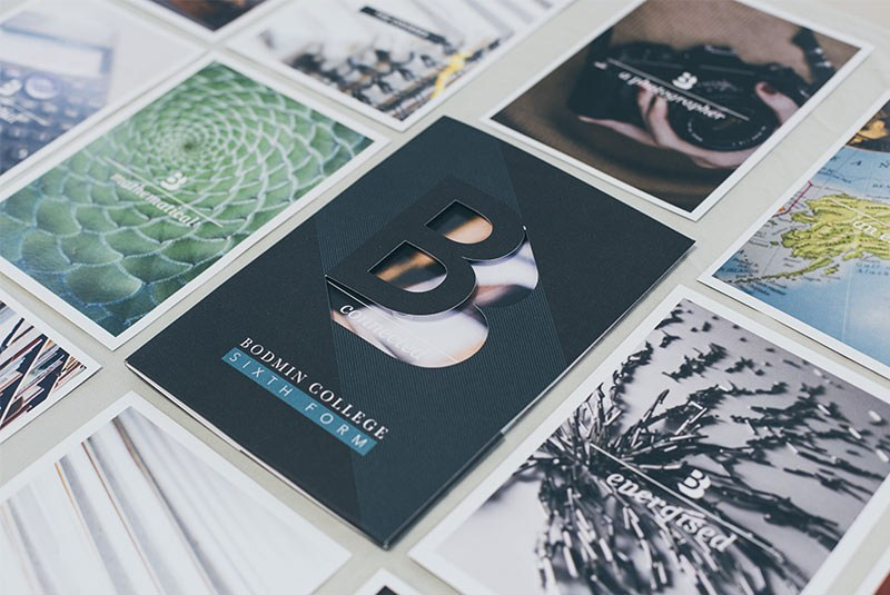 Bodmin College Sixth Form Branding Cards and Prospectus Image
