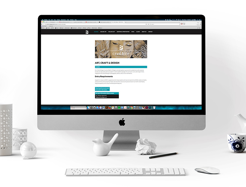 Website Art, Craft & Design Course Page