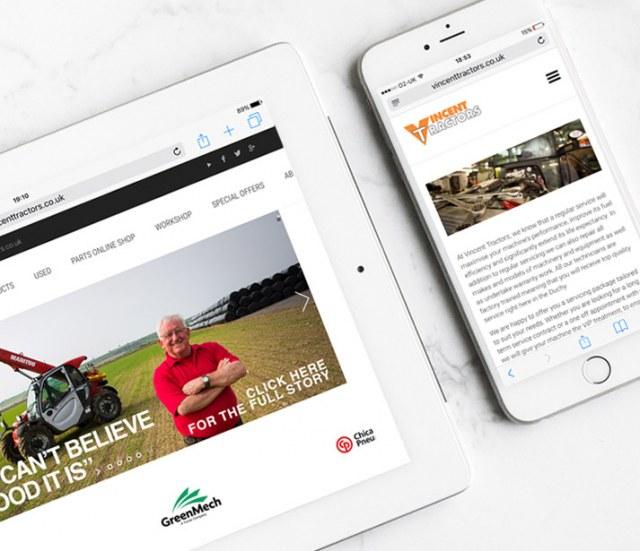 Vincent Tractors Website Image