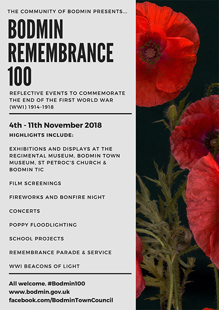 Bodmin Remembrance 100 Festival of Remembrance Guide