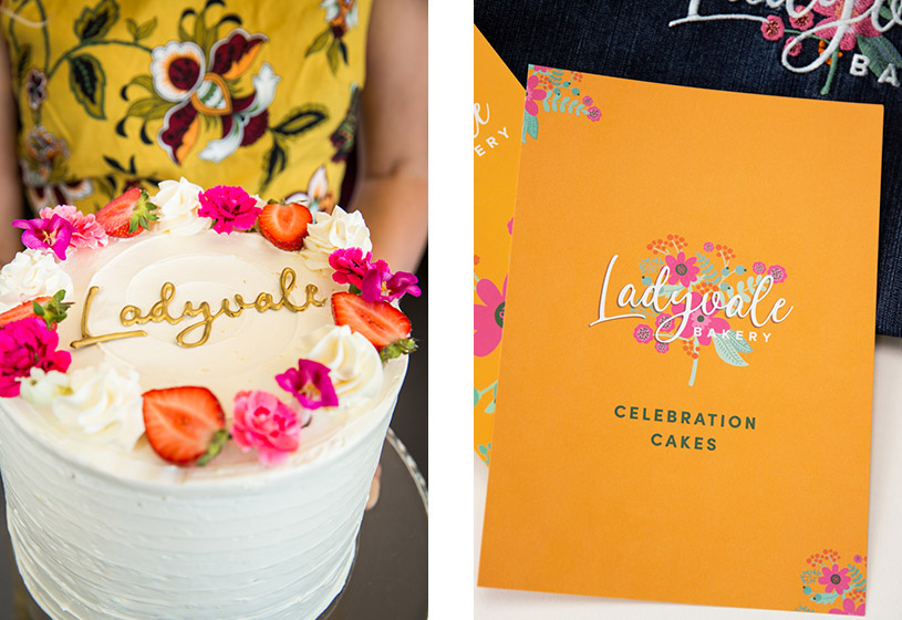 Ladyvale-Bakery-cake-and-flyer-Idenna-Creative